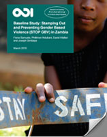 Preventing Gender Based Violence in Zambia