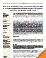 Health Systems in South Sudan