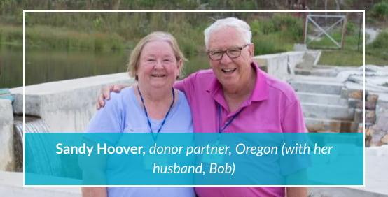 Sandy Hoover, donor partner, Oregon (with her husband, Bob)