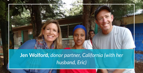 Jen Wolford, donor partner, California (with her husband, Eric)