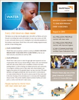 Clean Water - World Vision's Commitment and Approach