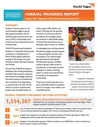 2020 Annual Report - Economic Empowerment