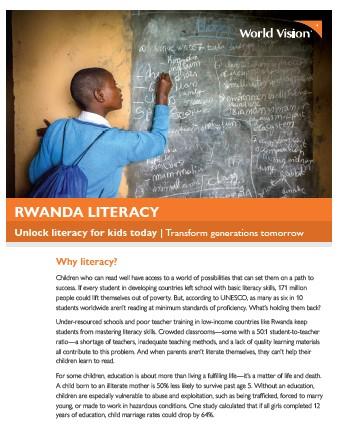Rwanda Literacy Flyer