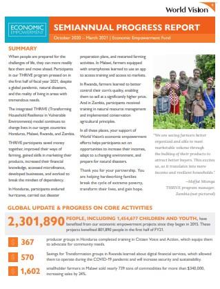 2021 Semi-Annual Report - Economic Empowerment