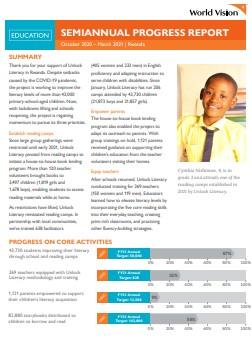 2021 Semi-Annual Report - Education
